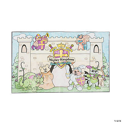 Color your own mighty kingdom classroom mural oriental for Classroom mural