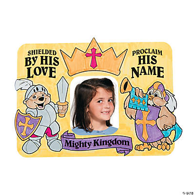 "Color Your Own ""Mighty Kingdom"" Picture Frame Magnets"