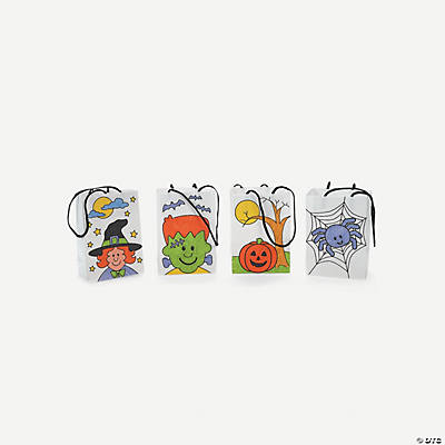 Color Your Own Mini Halloween Paper Treat Bags