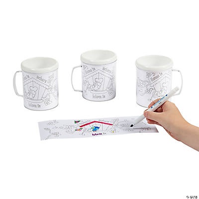 Color Your Own Mom Artist Mugs