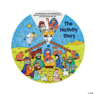 Color Your Own Nativity Wheels