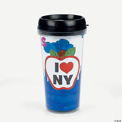 Color Your Own New York Travel Mugs