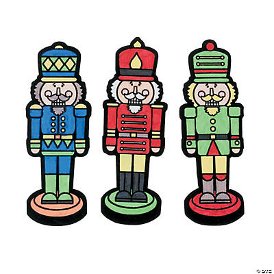 Color Your Own Nutcracker Fuzzy Magnets