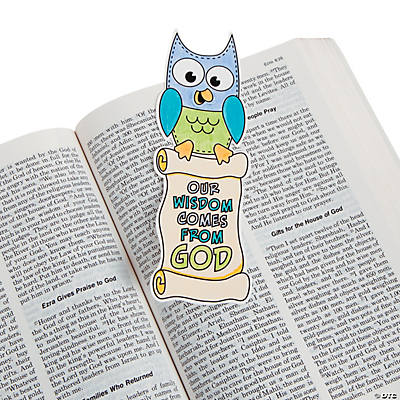 "Color Your Own ""Our Wisdom Comes From God"" Bookmark"