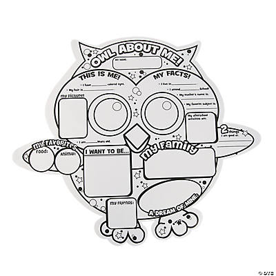 "Color Your Own ""Owl About Me"" Posters"