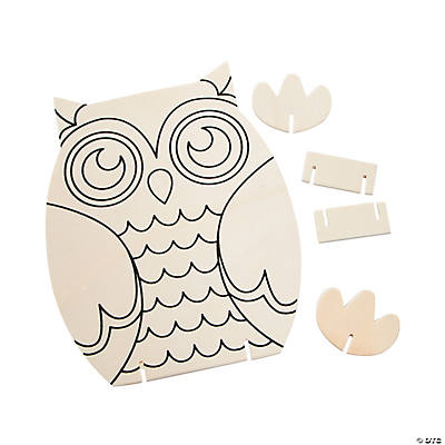 Color your own owl stand ups in 13655852 null color your own owl stand