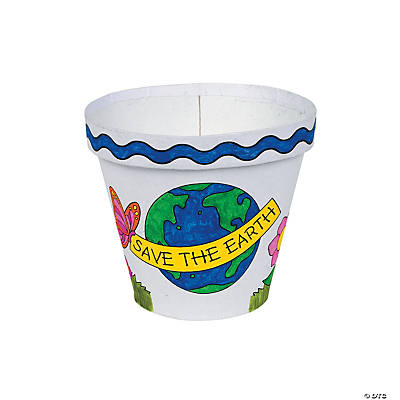 Color Your Own Papier-Mâché Earth Day Flowerpots