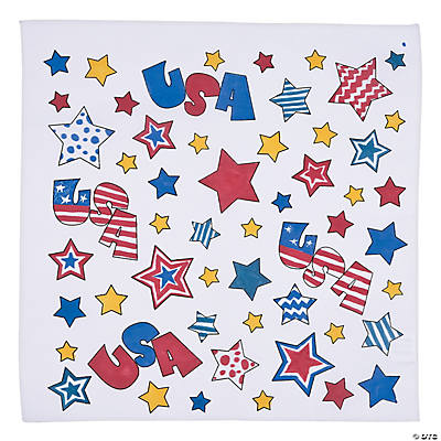 Color Your Own Patriotic Bandanas