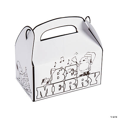 Color Your Own Peanuts® Christmas Treat Boxes