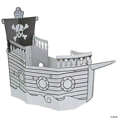 how to build a cardboard pirate ship playhouse