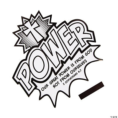 Color Your Own Power is from God Cutout Magnets