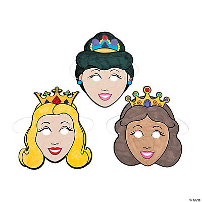 Color Your Own Princess Masks
