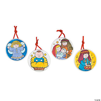 Color Your Own Religious Christmas Ornaments
