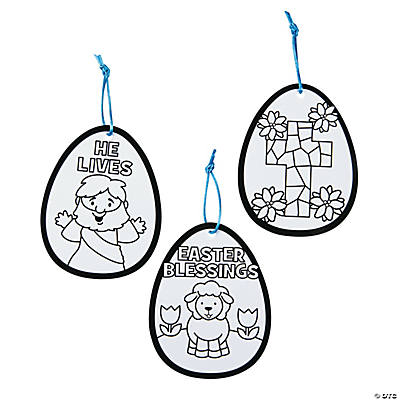Color Your Own Religious Easter Egg Ornaments