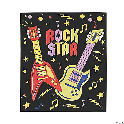 "Color Your Own ""Rock Star"" Fuzzy Posters"