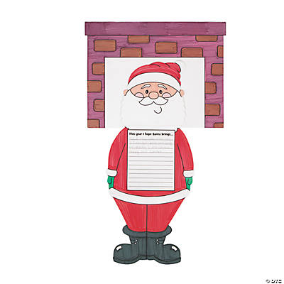 Color Your Own Santa Down the Chimney Stories Craft Kit