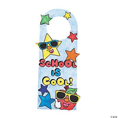 """Cool Door Hangers color your own """"school is cool"""" door hangers - oriental trading"""