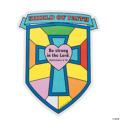 "Color Your Own ""Shield of Faith"" Cutouts"