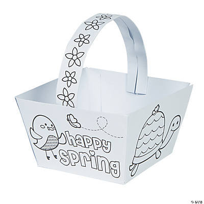 Color Your Own Spring Baskets