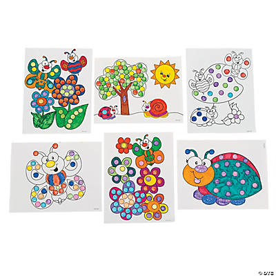 Color Your Own Spring Dot Marker Activity Sheets