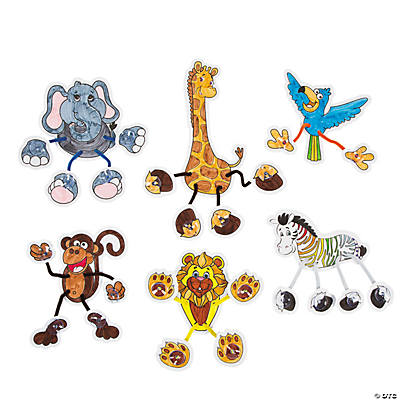 Color Your Own Suction Cup Safari Animals Craft Kit