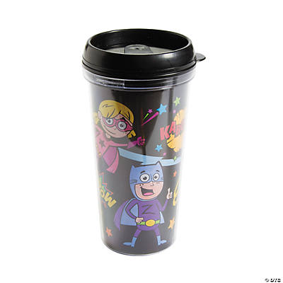 Color your own superhero dad travel mugs oriental for Coffee mug craft kit