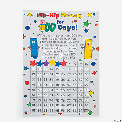 "Color Your Own ""100th Day"" Countdown Calendars"