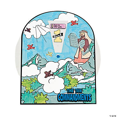 Color Your Own The Ten Commandments Wheels