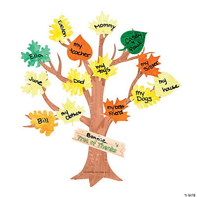 "Color Your Own ""Tree of Thanks"" Cutouts"