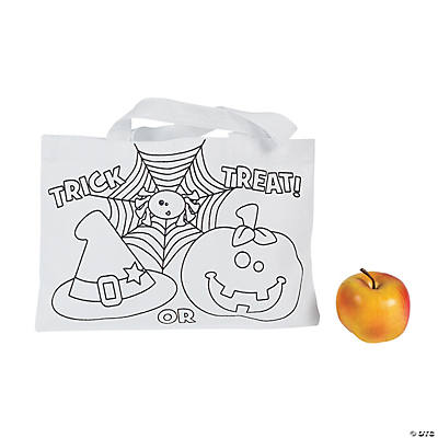 "Color Your Own ""Trick-Or-Treat"" Tote Bags"