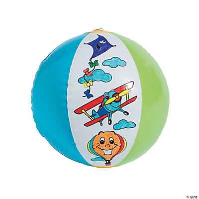 Color Your Own Up & Away Inflatable Beach Balls
