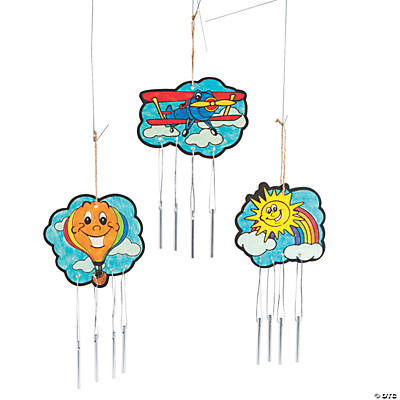 Color Your Own Up & Away Wind Chimes