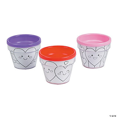Color Your Own Valentine Artist Flowerpots