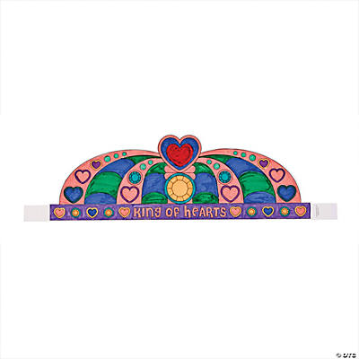 Color Your Own Valentine King Crowns