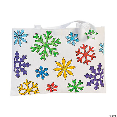 Color Your Own Winter Tote Bags