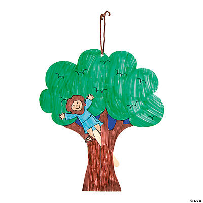 Color Your Own Zacchaeus Pop-Up Puppet Door Hangers