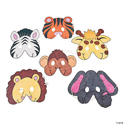 Color Your Own Zoo Animal Masks