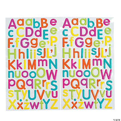 Colorful Alphabet Stickers