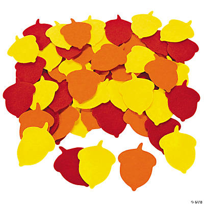 Colorful Fall Acorn Shapes