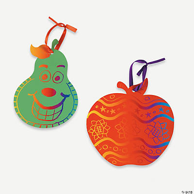 Colorful Fruit-Shaped Magic Color Scratch Ornaments