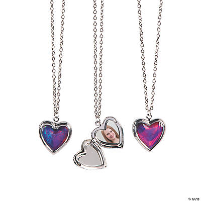 Colorful Heart-Shaped Lockets