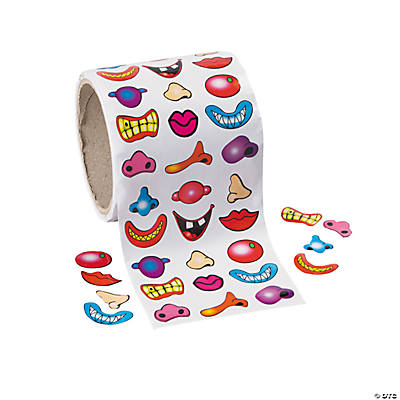 Colorful Nose & Mouth Stickers