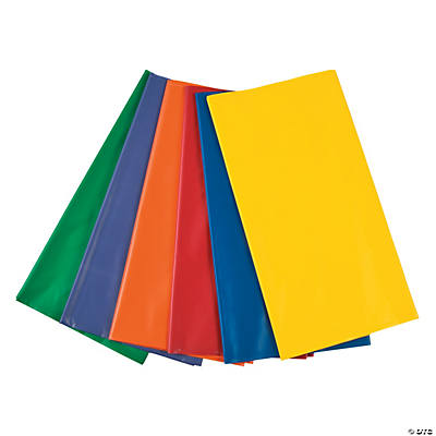 Colorful Plastic Tablecloth Assortment
