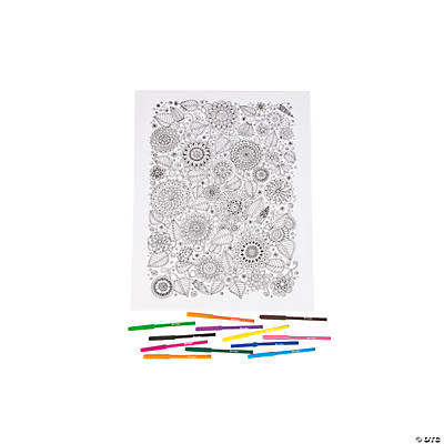 Coloring Canvas Kit - Floral