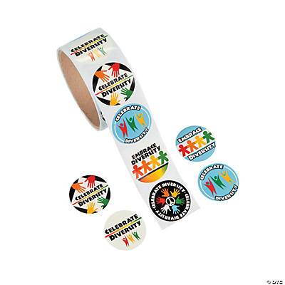 Colors of Diversity Roll of Stickers