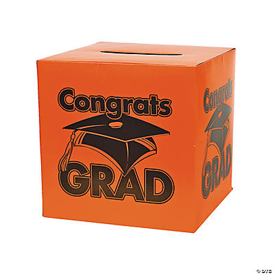 """Congrats Grad"" Orange Card Box"