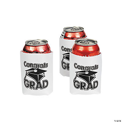 """Congrats Grad"" White Can Cover"