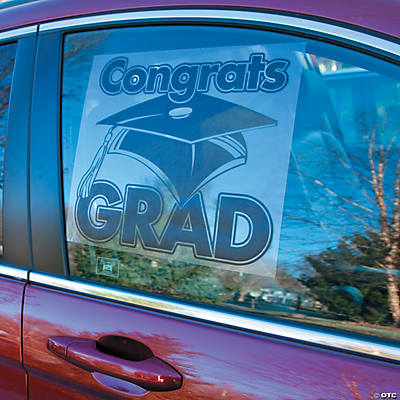 """Congrats Grad"" Window Cling"