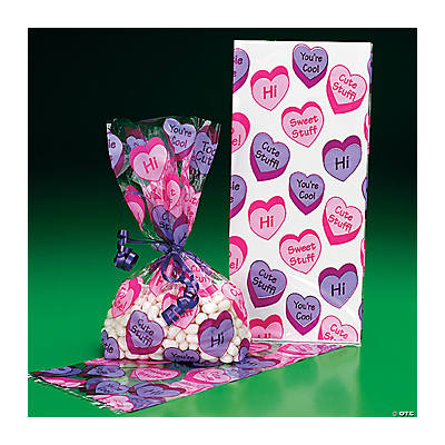 Conversation Heart Goody Bags