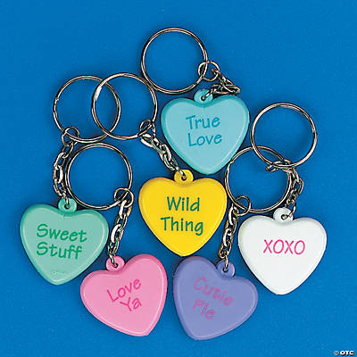 Conversation Heart Key Chains